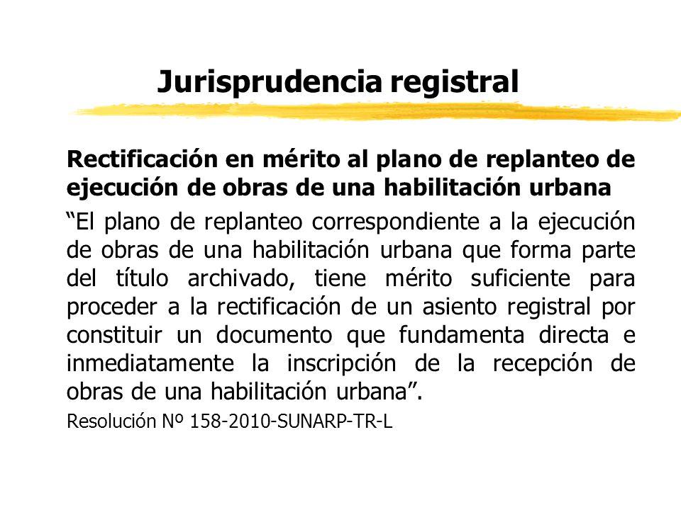 Jurisprudencia registral