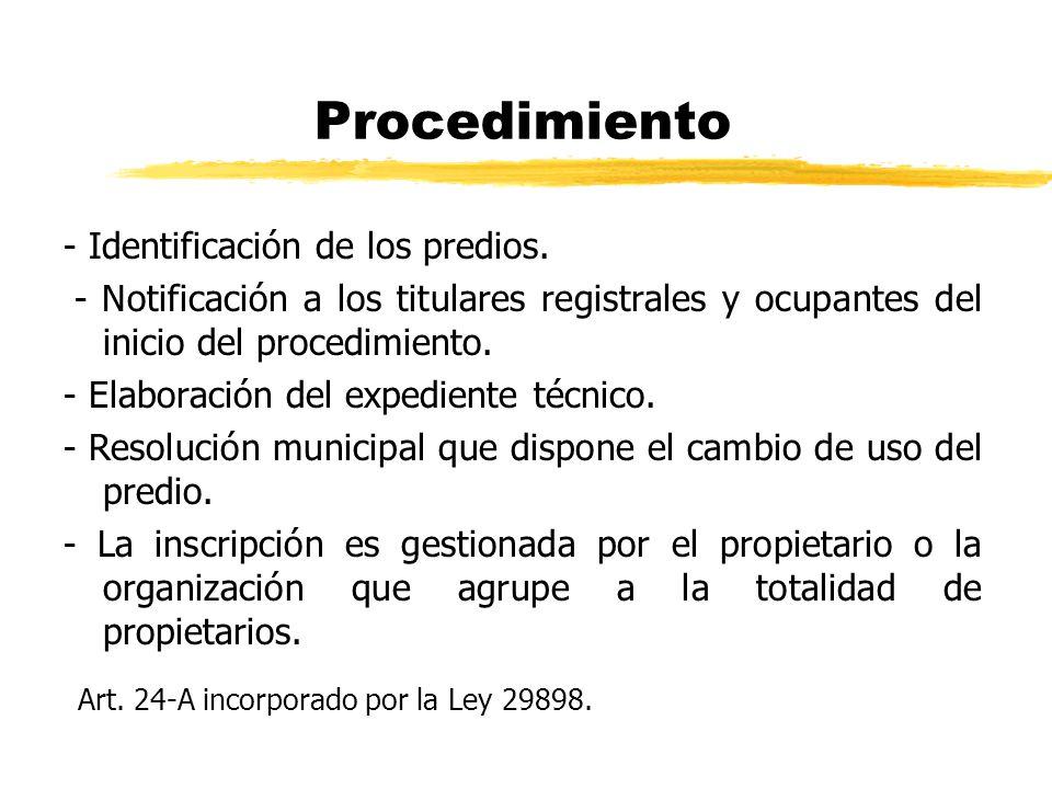 Procedimiento Art. 24-A incorporado por la Ley 29898.