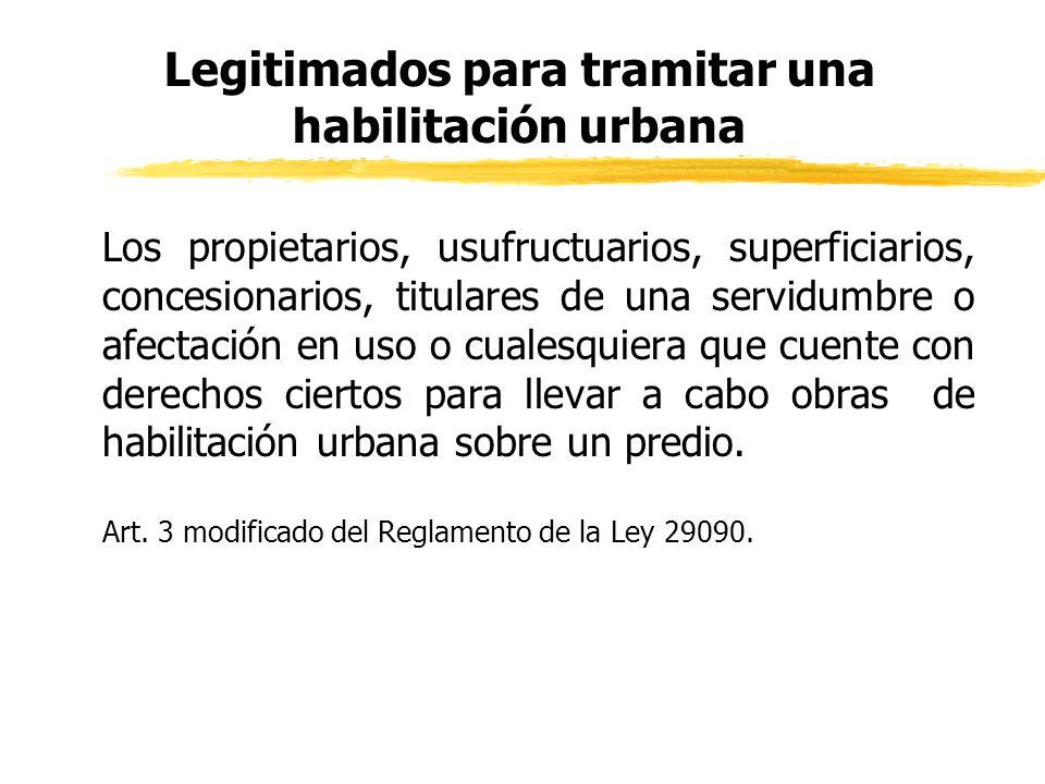 Legitimados para tramitar una habilitación urbana