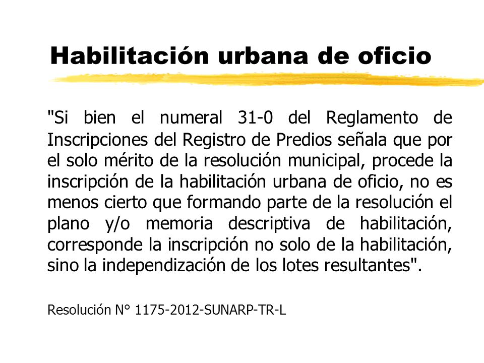 Habilitación urbana de oficio