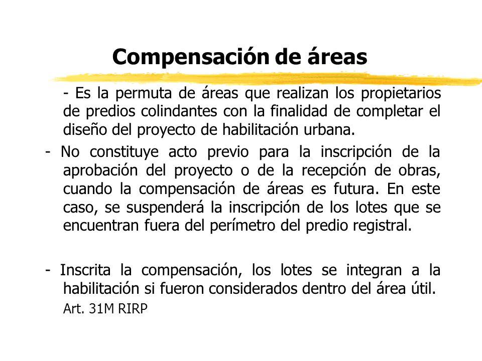 Compensación de áreas
