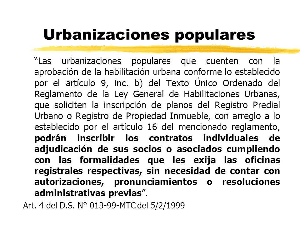 Urbanizaciones populares