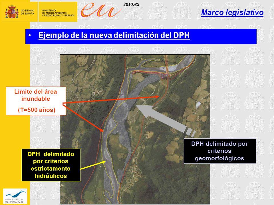 Ejemplo de la nueva delimitación del DPH