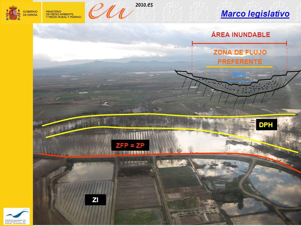 Marco legislativo ÁREA INUNDABLE ZONA DE FLUJO PREFERENTE DPH DPH