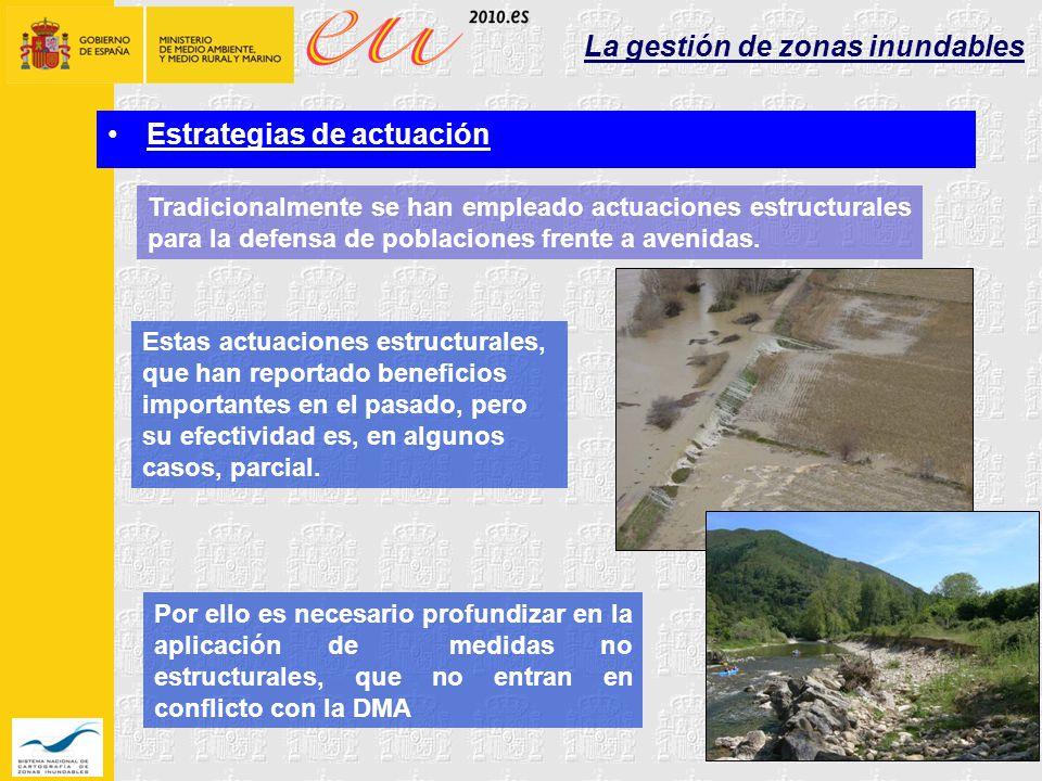 La gestión de zonas inundables