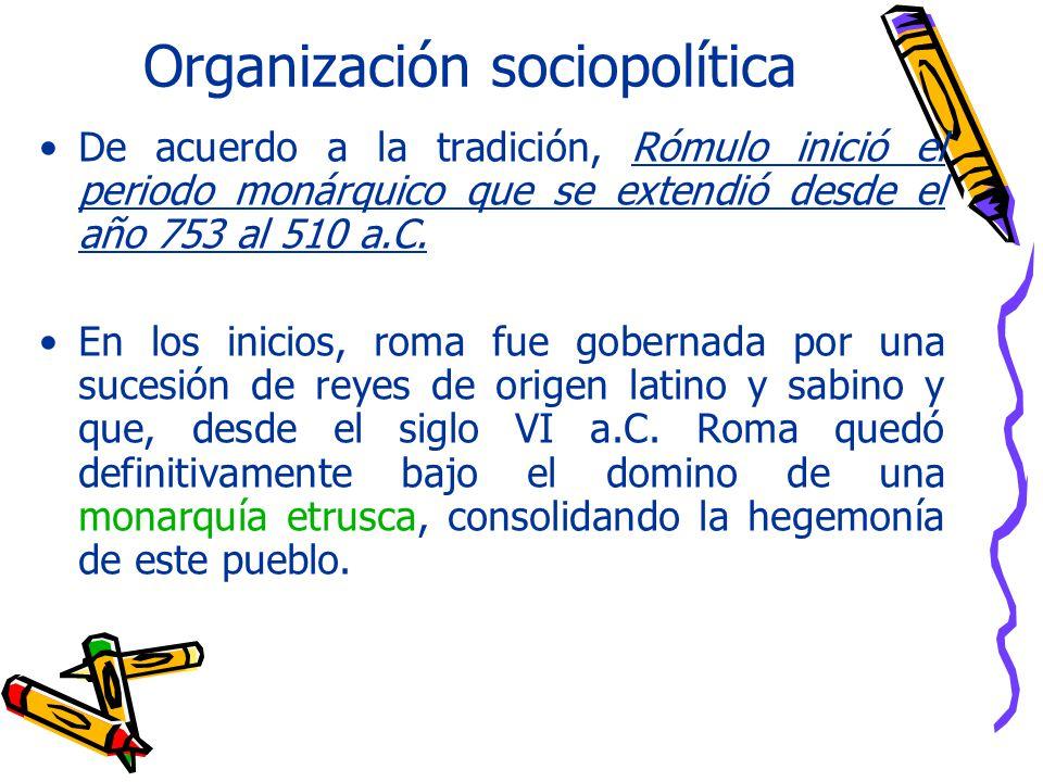 Organización sociopolítica