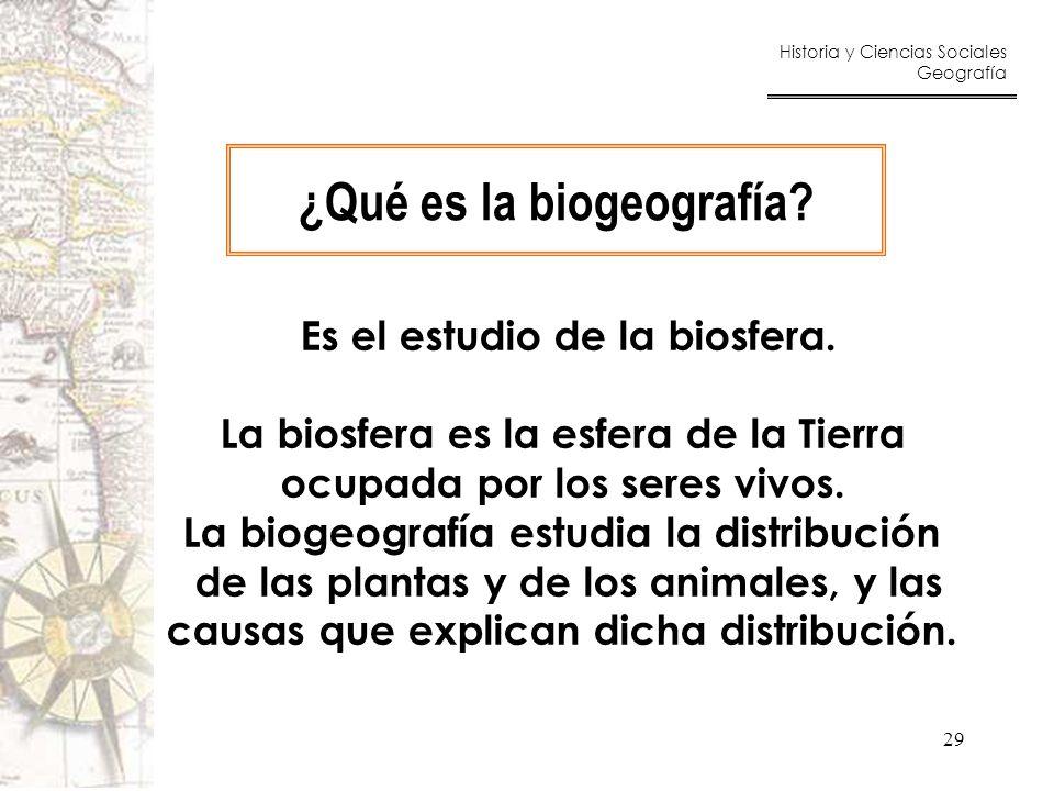 ¿Qué es la biogeografía