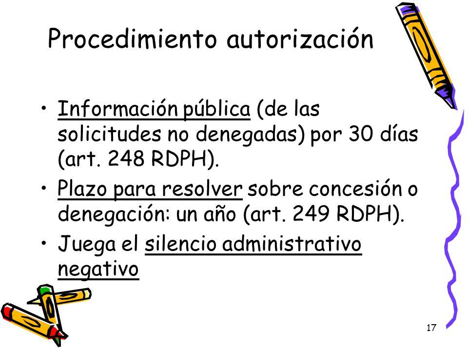 Procedimiento autorización