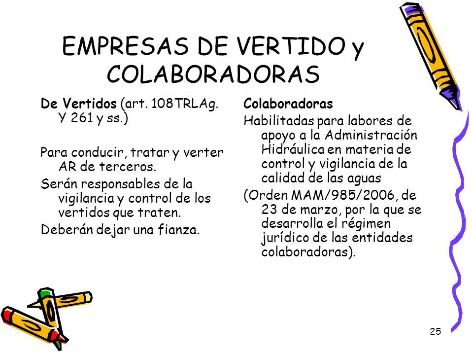 EMPRESAS DE VERTIDO y COLABORADORAS