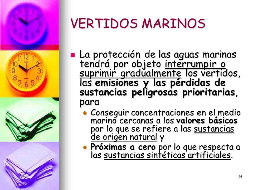 VERTIDOS MARINOS