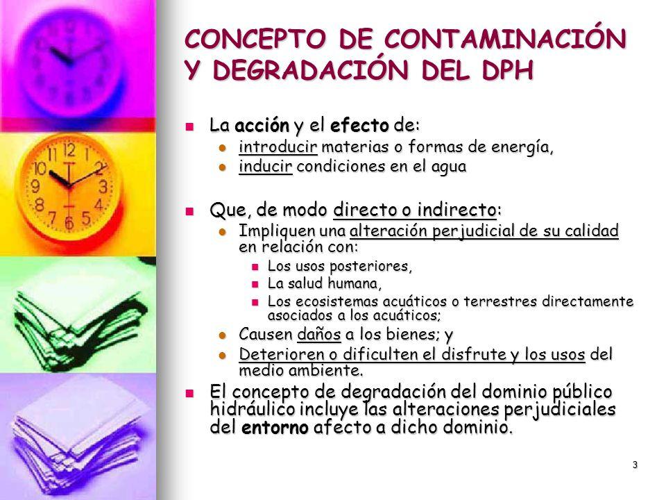 CONCEPTO DE CONTAMINACIÓN Y DEGRADACIÓN DEL DPH