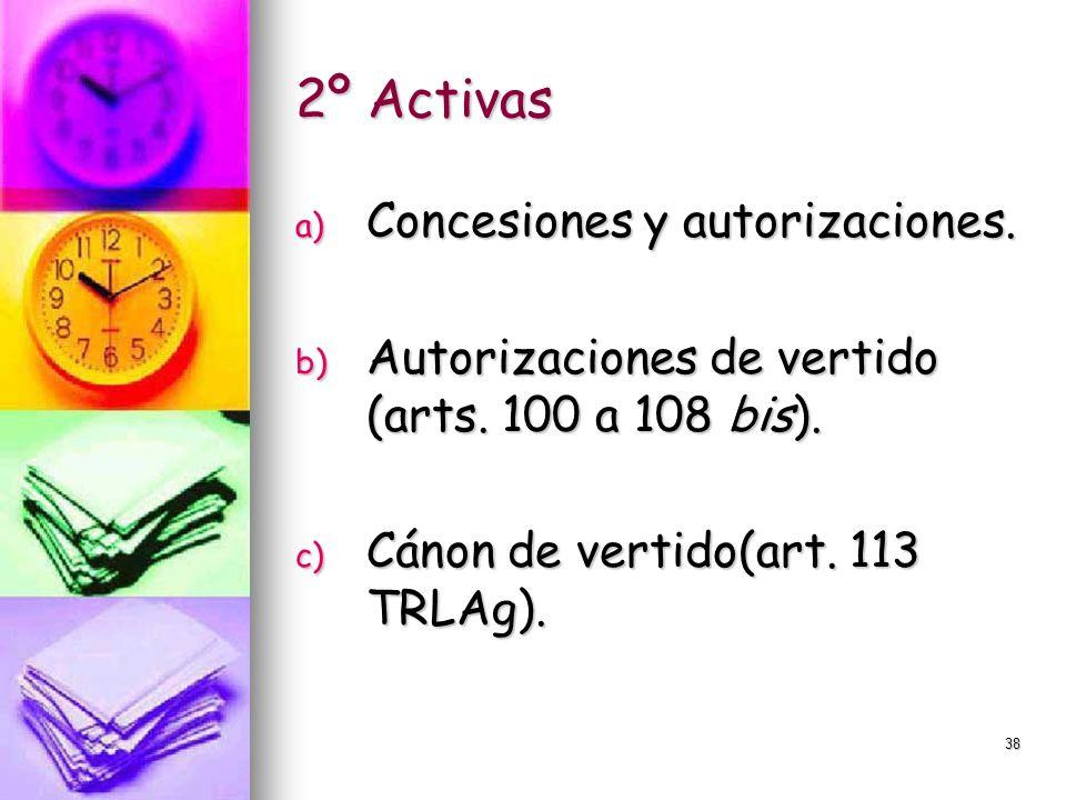 2º Activas Concesiones y autorizaciones.