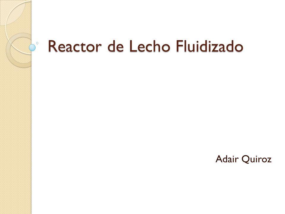 Reactor de Lecho Fluidizado