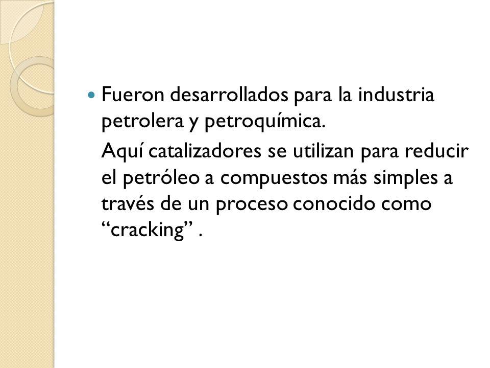 Fueron desarrollados para la industria petrolera y petroquímica.