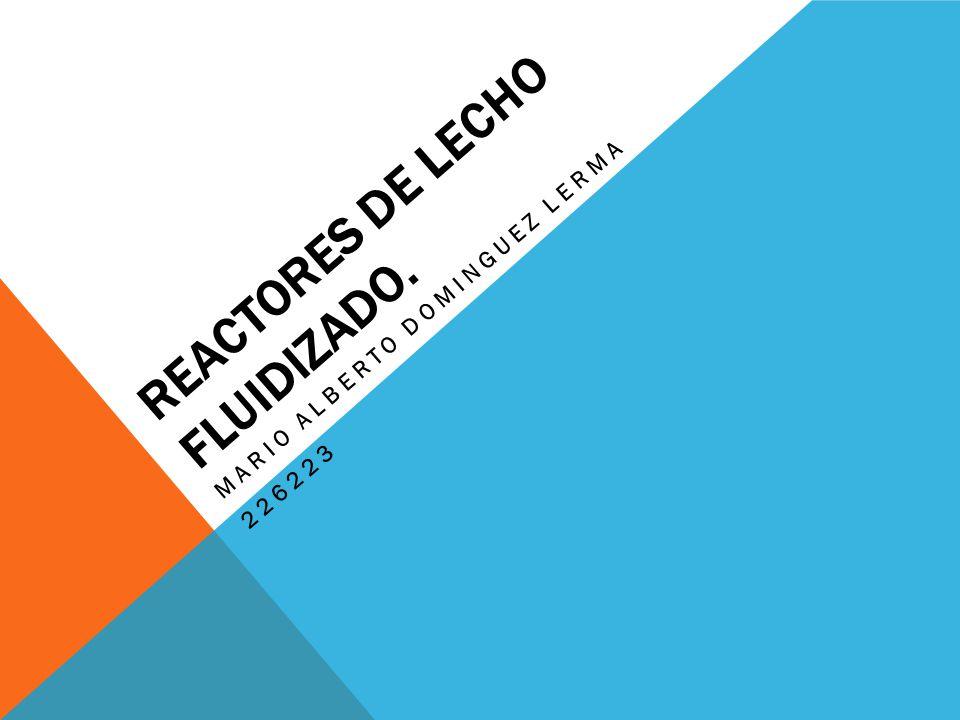 REACTORES DE LECHO FLUIDIZADO.