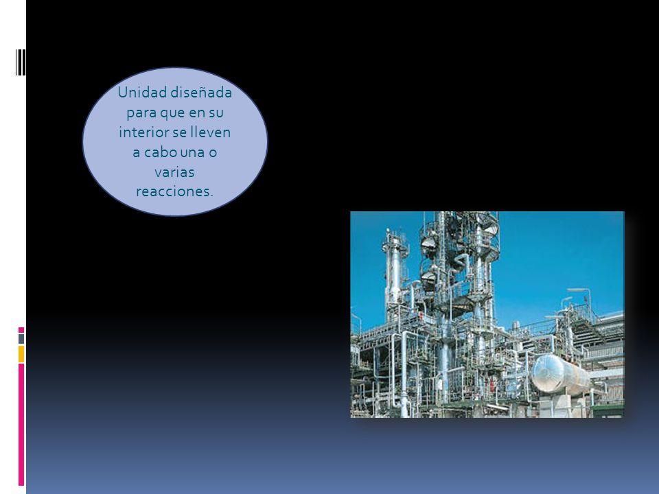 Unidad diseñada para que en su interior se lleven a cabo una o varias reacciones.