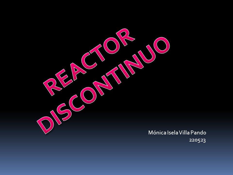 REACTOR DISCONTINUO Mónica Isela Villa Pando 220523