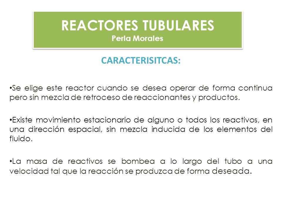REACTORES TUBULARES CARACTERISITCAS: Perla Morales