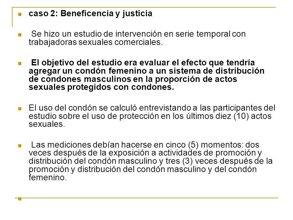 caso 2: Beneficencia y justicia