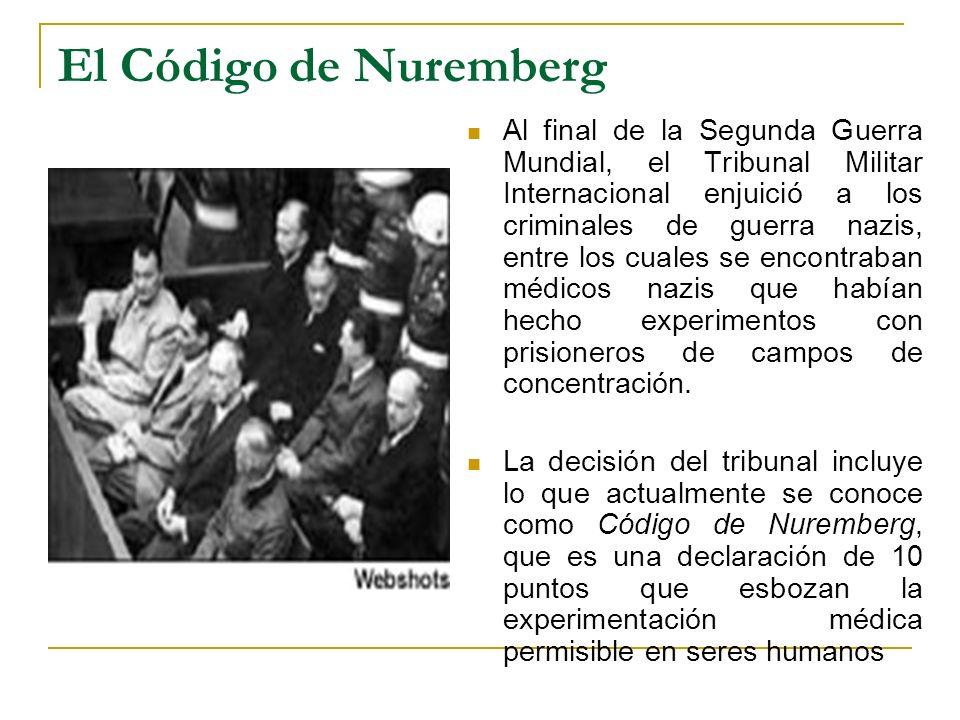 El Código de Nuremberg