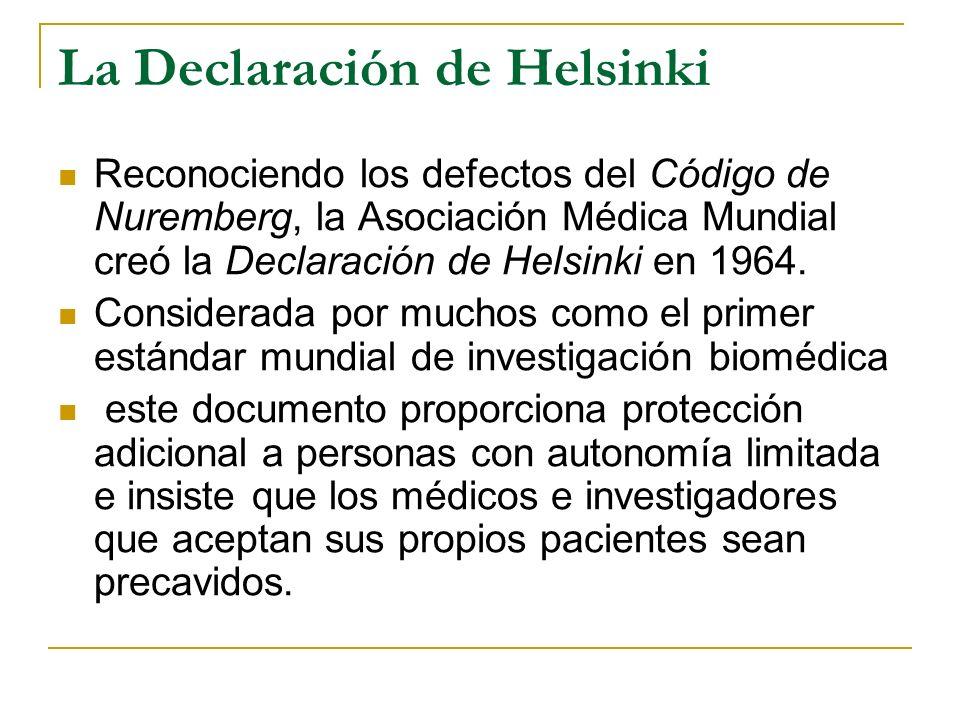 La Declaración de Helsinki