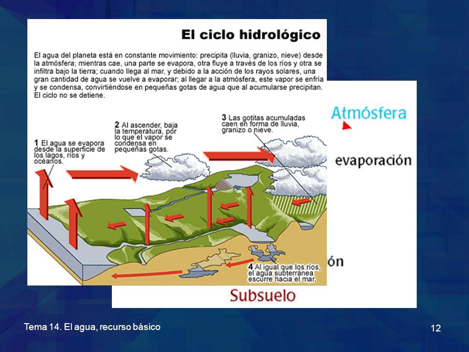 Tema 14. El agua, recurso básico