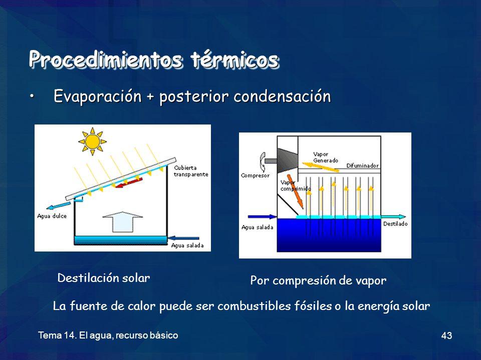 Procedimientos térmicos