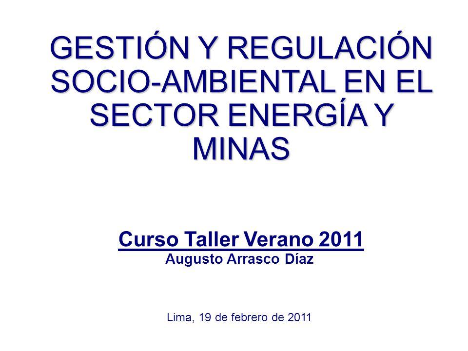 GESTIÓN Y REGULACIÓN SOCIO-AMBIENTAL EN EL SECTOR ENERGÍA Y MINAS