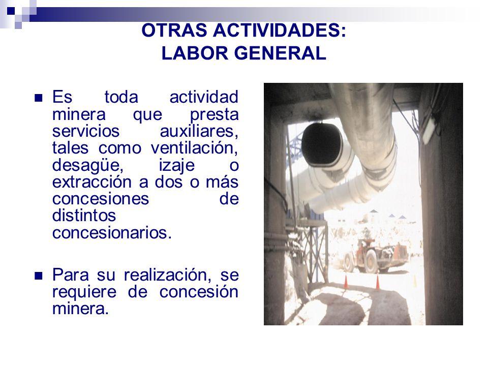OTRAS ACTIVIDADES: LABOR GENERAL