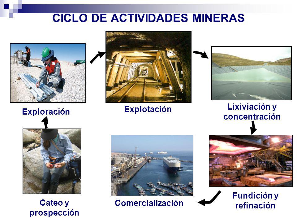 CICLO DE ACTIVIDADES MINERAS