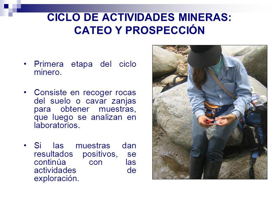 CICLO DE ACTIVIDADES MINERAS: CATEO Y PROSPECCIÓN