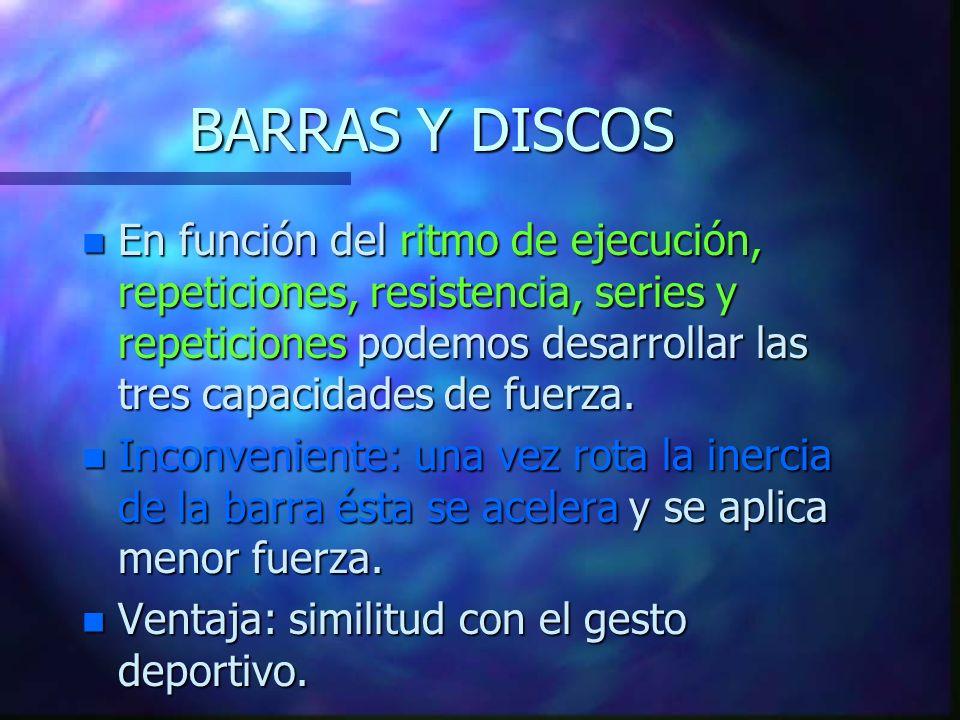 BARRAS Y DISCOS