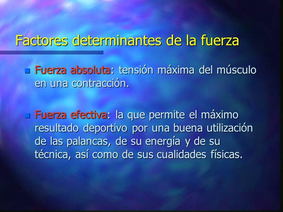 Factores determinantes de la fuerza