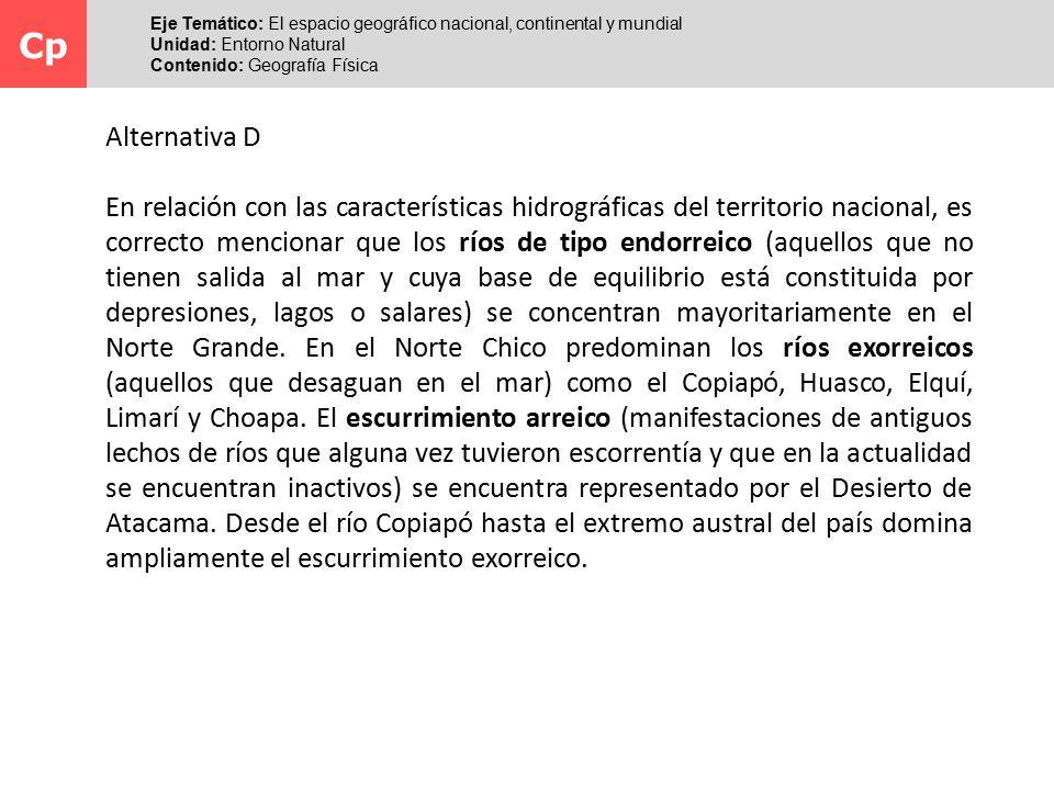 Cp Eje Temático: El espacio geográfico nacional, continental y mundial. Unidad: Entorno Natural. Contenido: Geografía Física.