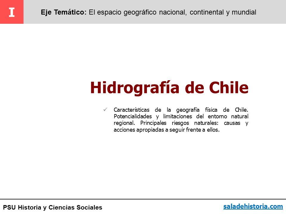 I Eje Temático: El espacio geográfico nacional, continental y mundial. Hidrografía de Chile.
