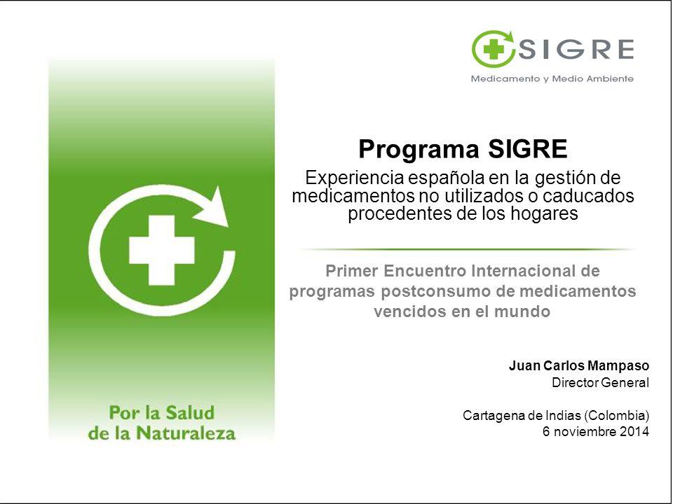 Programa SIGRE Experiencia española en la gestión de medicamentos no utilizados o caducados procedentes de los hogares.
