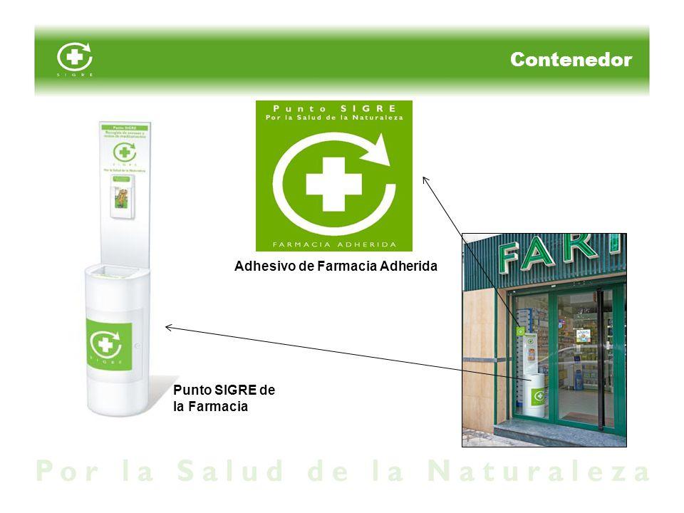 Contenedor Adhesivo de Farmacia Adherida Punto SIGRE de la Farmacia