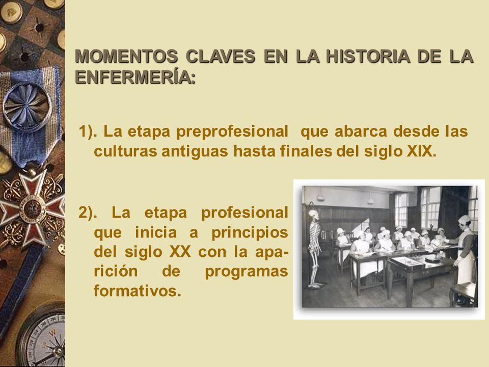 MOMENTOS CLAVES EN LA HISTORIA DE LA ENFERMERÍA: