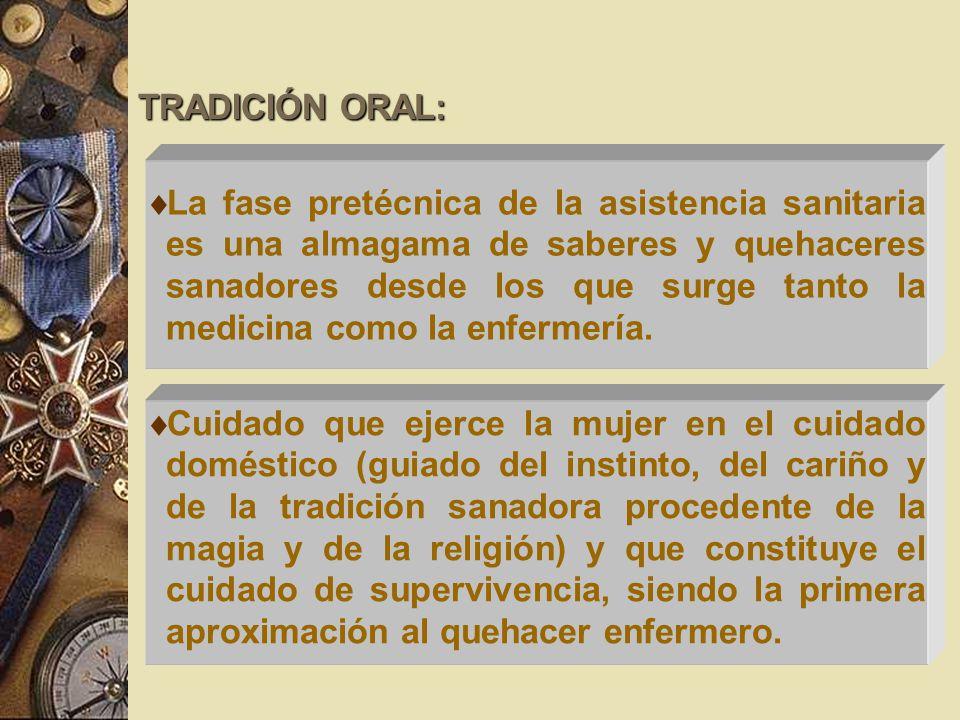 TRADICIÓN ORAL: