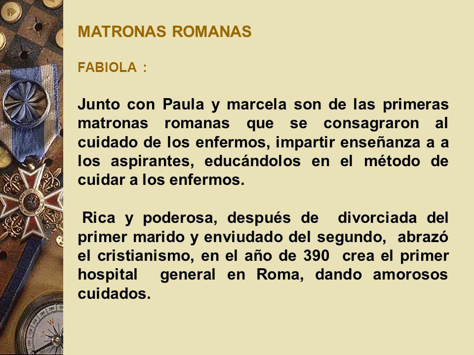 MATRONAS ROMANAS FABIOLA :