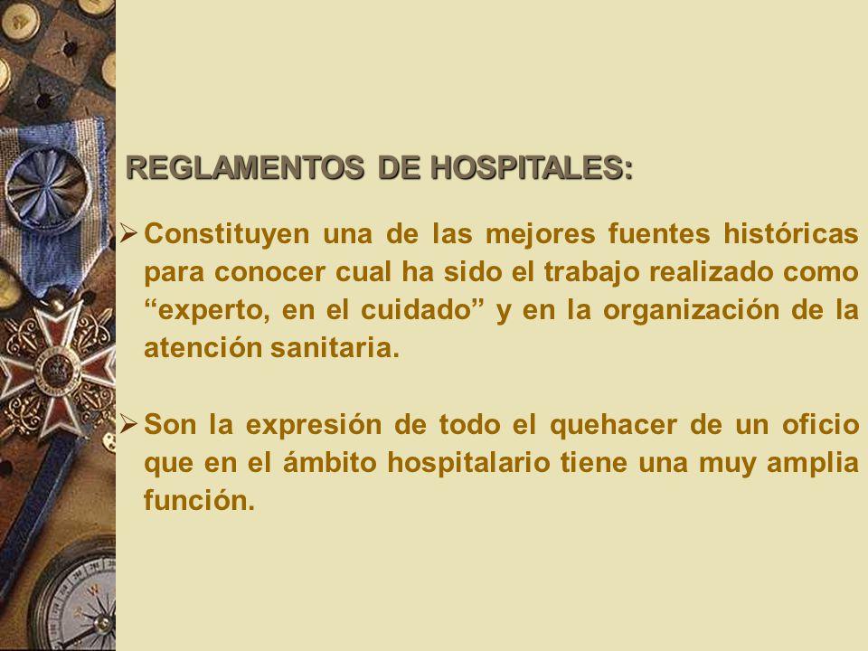 REGLAMENTOS DE HOSPITALES: