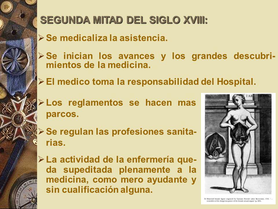 SEGUNDA MITAD DEL SIGLO XVIII: