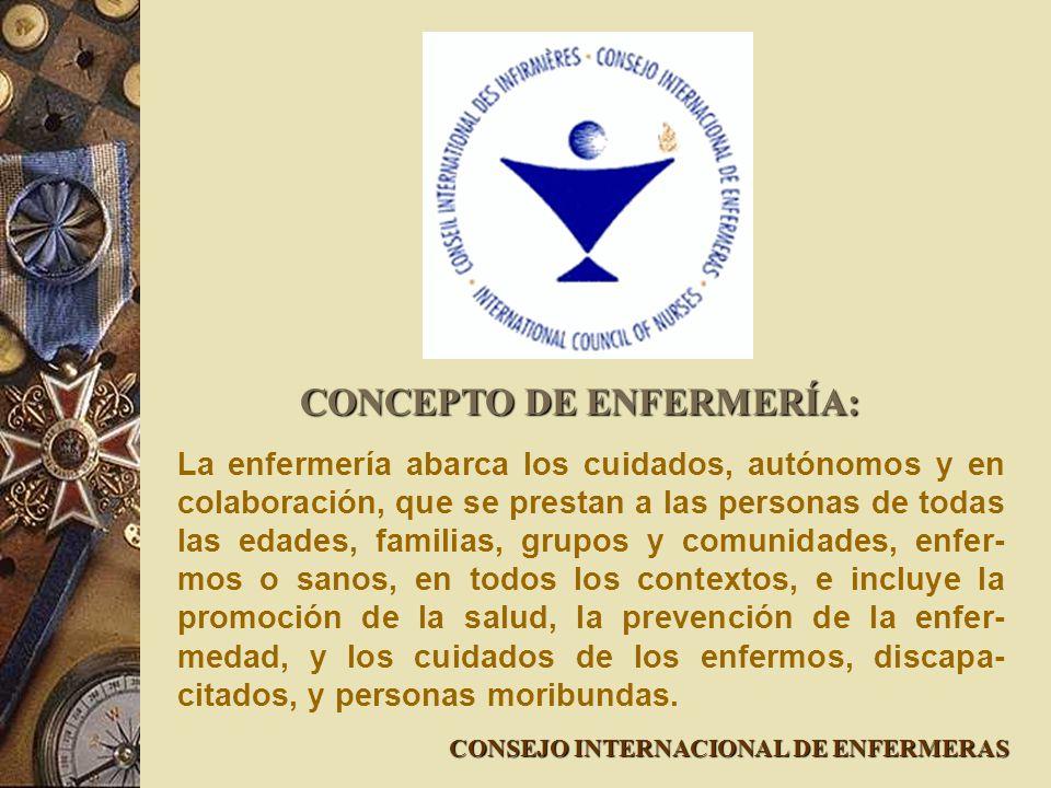 CONCEPTO DE ENFERMERÍA: