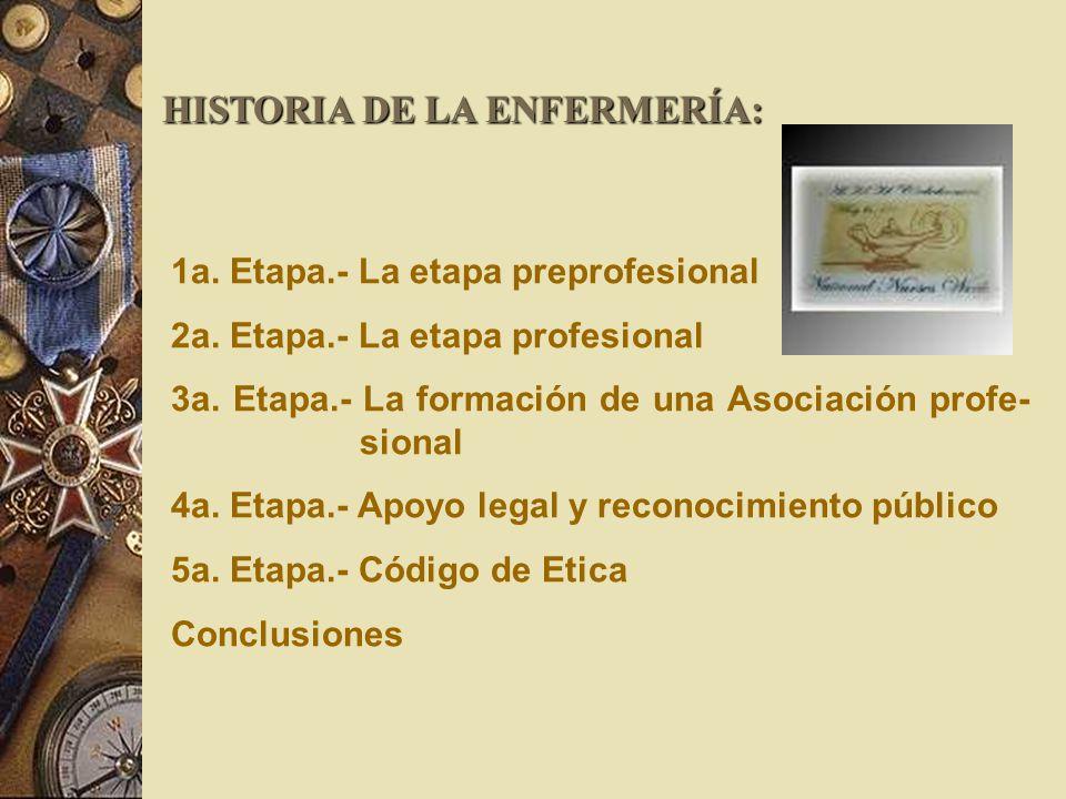 HISTORIA DE LA ENFERMERÍA: