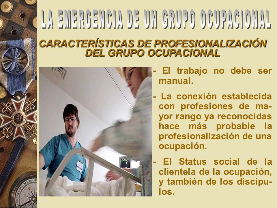 CARACTERÍSTICAS DE PROFESIONALIZACIÓN