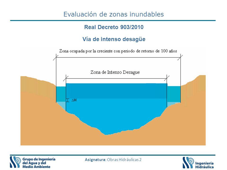 Evaluación de zonas inundables