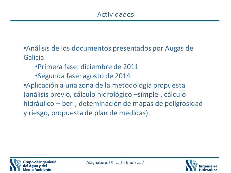 Análisis de los documentos presentados por Augas de Galicia
