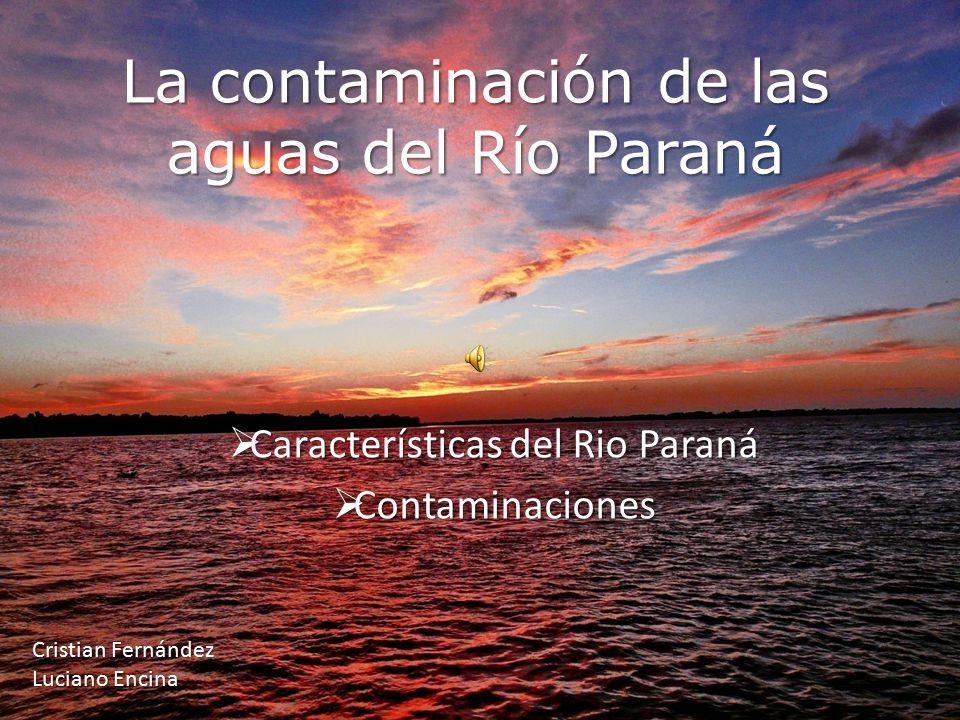 La contaminación de las aguas del Río Paraná