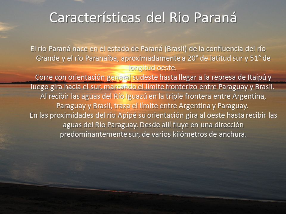 Características del Rio Paraná