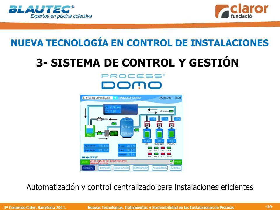 3- SISTEMA DE CONTROL Y GESTIÓN